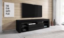 Titan TV-stall TV-Bank 140 cm ram svart / Framsida svart Hogglans