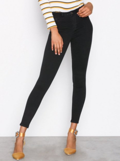 Gina Tricot Molly High Waist Jeans Slim Black