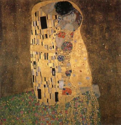 Kyss, Gustav Klimt, 50x50cm