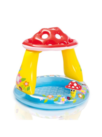 Mushroom Baby Pool 45L 102X89 Cm.
