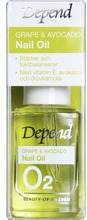 Depend O2 Grape & Avocado Nail oil Vårdande nagelolja, 10 ml