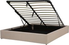 Sänky säilytystilalla 160x200 cm beige DINAN