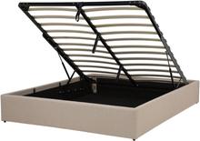 Sänky säilytystilalla 140x200 cm beige DINAN