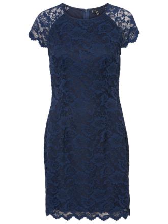 VERO MODA Lace Dress Women Blue