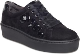 Woms Lace-Up Sneakers Sko Svart TAMARIS