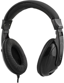 DELTACO hörlurar med volymkontroll 2,5m kabel, svart