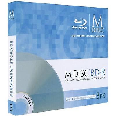 Blank M-Disc Blu-ray DVD 25 GB Millenniata MDBD003 3 computer(e)