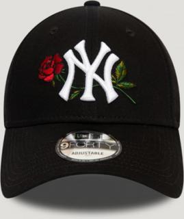 New Era, MENS TWINE MLB 9FORTY NEYYAN, Svart, Kapser og skyggeluer för Unisex, One size