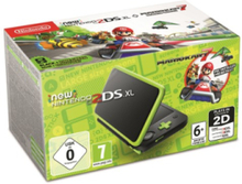 New 2DS XL - Black & Lime Green (Mario Kart 7 Bundle)