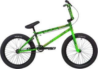 Stolen X Fiction Creature 20 2020 Freestyle BMX Cykel 21 Toxic Green Splatter