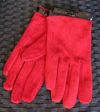 Handsker i 100% læder Rød