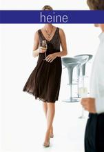 Heine Babydoll-evening dress, brown