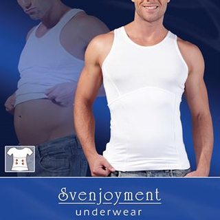 Shapewear Top Men White Small