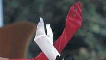 Shirley Long Satin Spandex Gloves