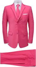 Vidaxl tvådelad kostym med slips herrar rosa strl. 48