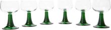 Set Of Six Roemer Glasses - Clear