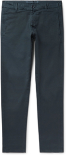 Slim-fit Tapered Stretch-cotton Twill Chinos - Petrol