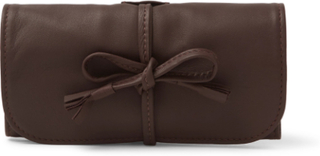 Leather Watch Roll - Brown