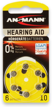 Batteri til høreapparat A10 - 6 stk