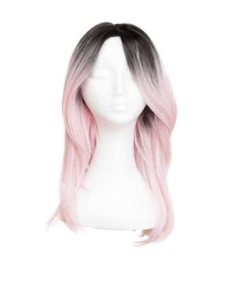 Rapunzel Of Sweden Lace Front Peruk - Long Bob 40cm Black Brown/ Pink