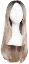 Rapunzel Of Sweden Lace Front Peruk - Long 60cm Black Brown / Grey