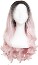 Rapunzel Of Sweden Lace Front Peruk - Long Curly 60cm Black Brown/ Pink