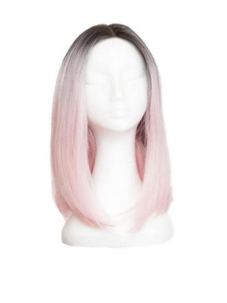 Rapunzel Of Sweden Lace Front Peruk - Lob 40cm Black Brown/ Pink