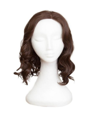Rapunzel Of Sweden Lace Front Peruk - Lob Curly 40cm Coffee Brown
