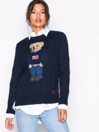 Strikkede gensere - Navy Polo Ralph Lauren Bear Sweater-Long Sleeve-Sweater