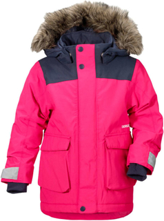 Didriksons Kure Kid's Parka Barn synthetic-lined parkas Rosa 110