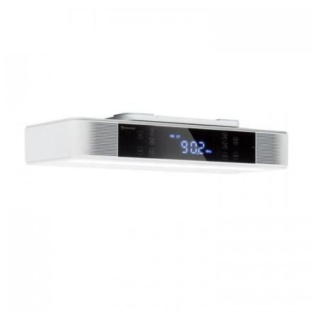 KR-130 Bluetooth köksradio hands free-funktion FM-tuner LED-belysning vit