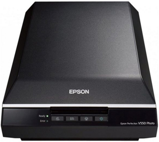 Bärbar Skanner Epson Perfection V550 Photo B11B210302 6.400 ppp 3,4 Dmax A4 USB 2.0 B