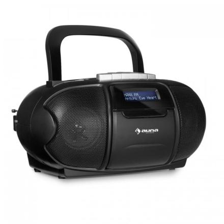 BeeBerry DAB Boombox Bergsprängare Kassettbandspelare USB CD MP3 Svart