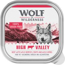 Wolf of Wilderness Adult 6 x 300 g - Schale - High Valley - Rind