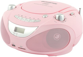 Champion Champion Boombox CD/Radio/MP3/USB Pink Champion