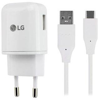 LG Hurtig Oplader MCS-H05ER & USB-C Datakabel - Hvid