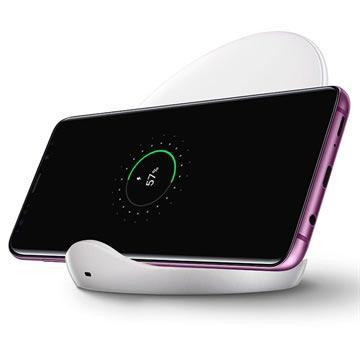 Samsung EP-N5100TW Fast Charge Trådløst Opladningsstativ med Rejseoplader - Hvid