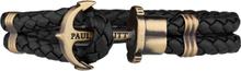 Paul Hewitt Leather Phrep Armband Svart/mässing