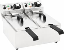 vidaXL Elektrisk fritös rostfritt stål 12 L 4000 W