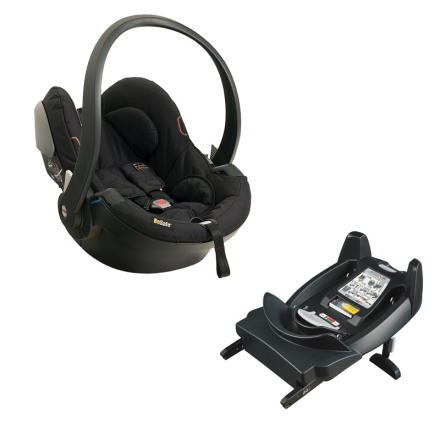 BeSafeBabybilstolsett, iZi Go X1 Babybilstol, Svart + ISOfix-Base