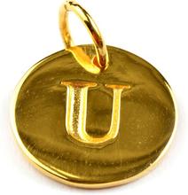 Beloved Letter Gold U, ONESIZE