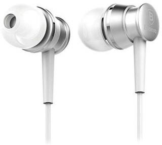 Baseus Lark Series Wired Høretelefoner - Sølv
