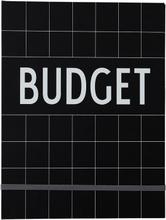 Design Letters - Budget Book, Black
