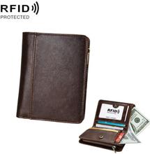 RFID Läderplånbok Brun