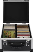 vidaXL CD-koffert for 40 CD-er aluminium ABS svart