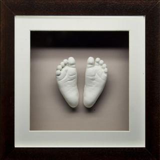 3d gips gjutning - avtryck bebis händer och fötter - inkl. ram
