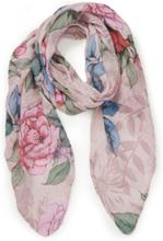 Blommig scarf från Peter Hahn rosa