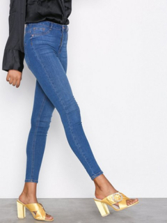 Gina Tricot Molly High Waist Jeans Slim Dark Blue Denim