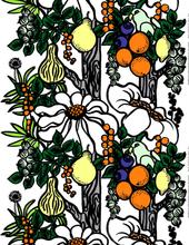 Pala Taivasta -kangas Valkoinen-oranssi-keltainen