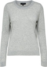 SELECTED Cashmere - Knitted Pullover Women Grey